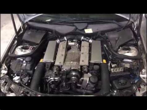 C32 AMG Custom exhaust + supercharger tuning + water