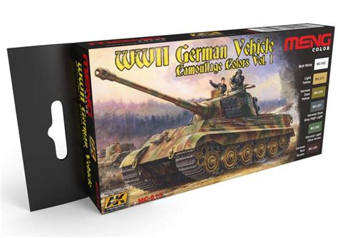 MENG WWII GERMAN VEHICLES CAMOUFLAGE COLORS - Modellfutár