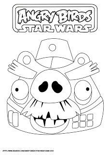 ANGRY BIRDS STAR WARS COLORING PAGE   Fiúk